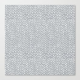 Hand Knit Light Grey Canvas Print