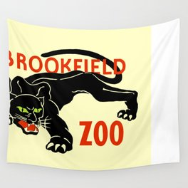 Black panther Brookfield Zoo ad Wall Tapestry