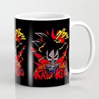 dbz Mugs featuring Goku Skull DBZ by offbeatzombie