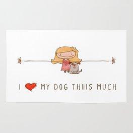 I love my dog girl Rug