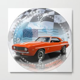"1969 Chevrolet Camaro Yenko Decorative 10"" Wall Clock (028ac) Metal Print"