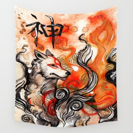 Okami Amaterasu Wall Tapestry