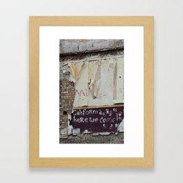 off to galifornia... Framed Art Print