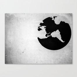 Earth B&W Canvas Print
