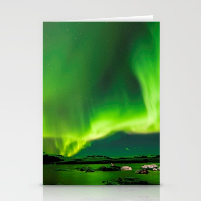 Northern Lights In Iceland Stationery Cards