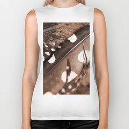 Beautiful Feathers On A Dark Brown Background #decor #buyart #society6 Biker Tank