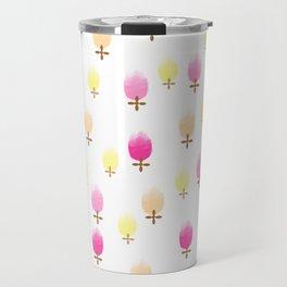 Summer Flower Pattern Travel Mug