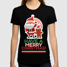 Santa and Reindeer - Have a Merry Christmas T-shirt