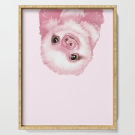 Baby Sloth Pink Serving Tray