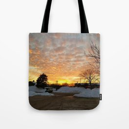 Winter Sunset, Chicago, 2018 Tote Bag