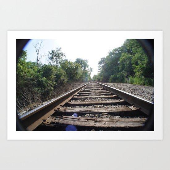 Down The Tracks (1) Art Print