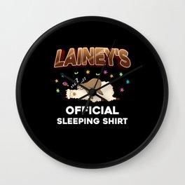 Lainey Name Gift Sleeping Shirt Sleep Napping Wall Clock