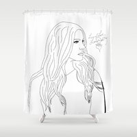 lana Shower Curtains featuring Lana by Shaina F.