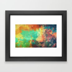 Cloudy in Paradise Framed Art Print