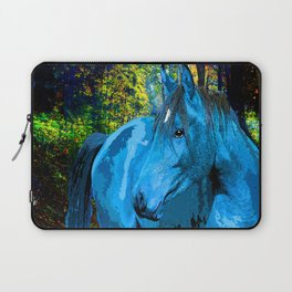 FANTASY HORSE BLUE I MET IN THE FOREST Laptop Sleeve