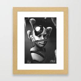 Data Drop Framed Art Print