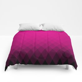 Pink ombre triangles Comforters