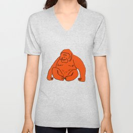 The Marvellous Orangutan Unisex V-Neck