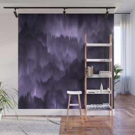 Purple and black. Abstract. Wall Mural