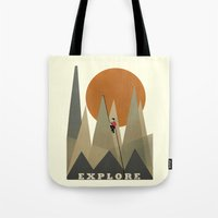 explore Tote Bags featuring Explore by bri.buckley