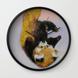 Red Panda Cub Wall Clock