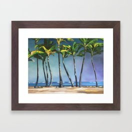 Palms Dancing Framed Art Print