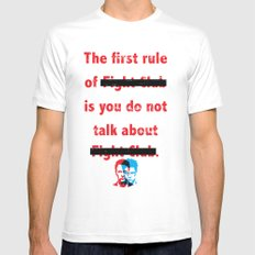 The First Rule of Fight Club... MEDIUM Mens Fitted Tee White