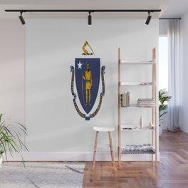 Flag of Massachusetts,america,usa,bay state, massachusite,massachusettsian,Boston,Cambridge,worceste Wall Mural