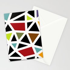 White lines & colors pattern #1 Stationery Cards