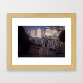 Tilted House - San Francisco Framed Art Print