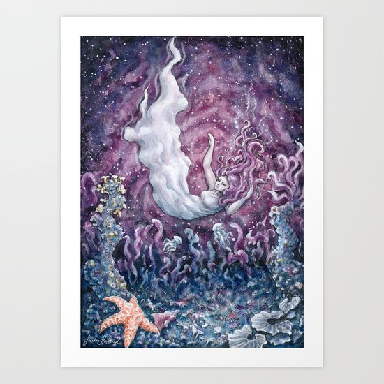 There's a distant universe around me Art Print