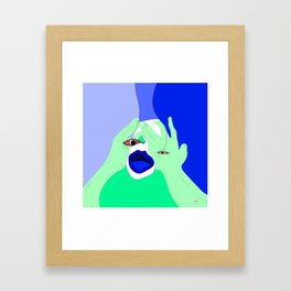 I've been watching reality television for 9 hours Framed Art Print