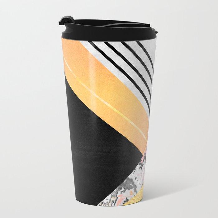 Geometric Summer Metal Travel Mug