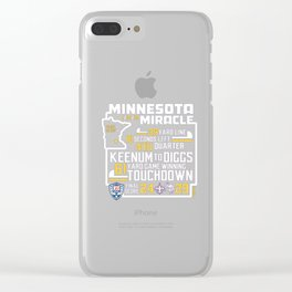 Minnesota Miracle Clear iPhone Case