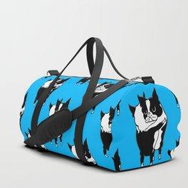 Boston Terrier Hugs Duffle Bag