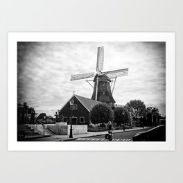 Amsterdam Windmill Girl Art Print