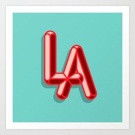 LA Brights Art Print