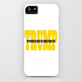 Trump Gold Definition iPhone Case