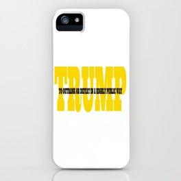 Trump Gold Definition iPhone Case