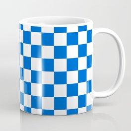 Gingham Brilliant Blue Checked Pattern Coffee Mug