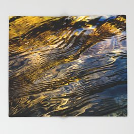 River Ripples in Copper Gold and Brown Throw Blanket