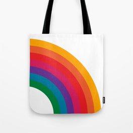 Retro Bright Rainbow - Right Side Tote Bag