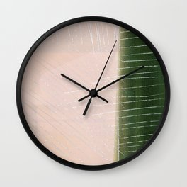 White & Green Scretched Wall Clock