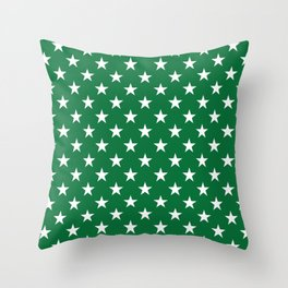 Stars (White & Olive Pattern) Throw Pillow