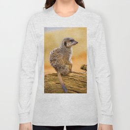 Meerkat (Color) Long Sleeve T-shirt