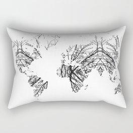 World Map by Fernanda Quilici Rectangular Pillow