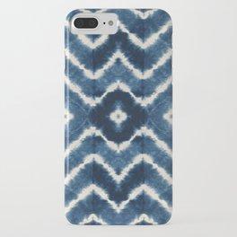 Shibori, tie dye, chevron print iPhone Case