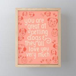 The Best Compliment (peach) Framed Mini Art Print