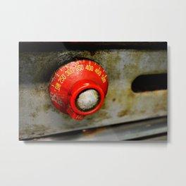 Heating Up Metal Print