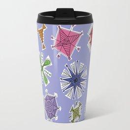 Geos Retro blue Travel Mug